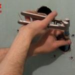 Utilisation de la pince à évaser Comap sur un PE de 16 pour l'alimentation de douche
