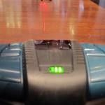 Les 2 lignes laser projetées au sol par le GSL 2