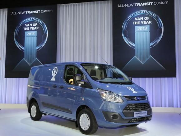 Le nouveau Ford Transit Custom élu « Utilitaire International de l'Année »
