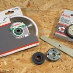 """Les accessoires: disque diamenté """"extraclean"""", écrous de serrage classique et SDS-Click"""