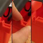 Le loquet bloquant la poignée est pratique pour le transport
