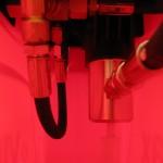 Intérieur de la pompe: crépine fine et piston robuste!