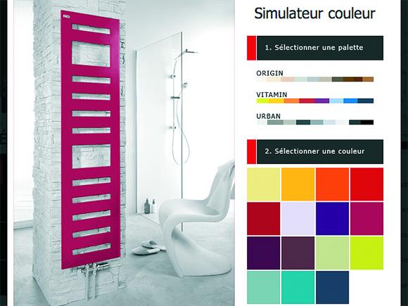 Le simulateur Acova et les couleurs Vitamin