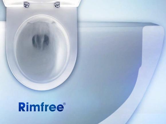 La nouvelle cuvette de WC Rimfree par Allia: aucune bride pour une meilleur hygiène