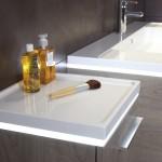 Table de toilette et vasque de 120 dans la gamme HALO