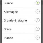 Choix de la langue et des unités de mesure sur l'application Hilti