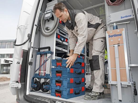 La mobilité de l'outillage et des instruments de mesure Bosch sur le chantier, une solution par Sortimo