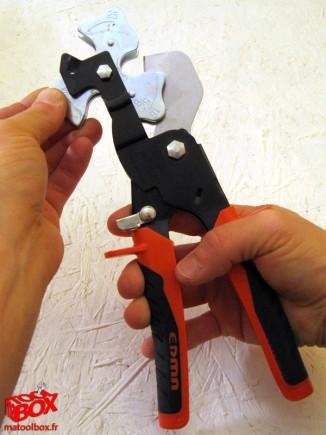 Rotation de la platine du Tricoup pour changer le diamètre de coupe