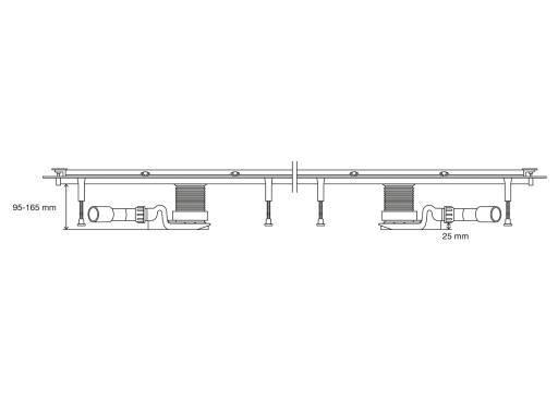 Plan de coupe du système de rigole Advantix Vario