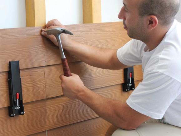 Pose de bardage fibre ciment, fibre bois ou bois avec le set BARDOFIX EDMA