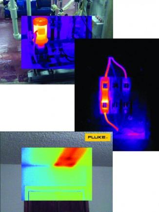 Images type mêlant visible et infrarouge obtenues avec les caméras Fluke TiR105 et Ti105
