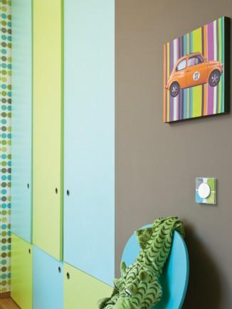 Insertion de son propre motif par rappel des couleurs de la pièce