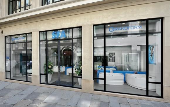 Le showroom Grandform, SFA, Sanilife et Kinedo dans le 2e arrondissement de Paris