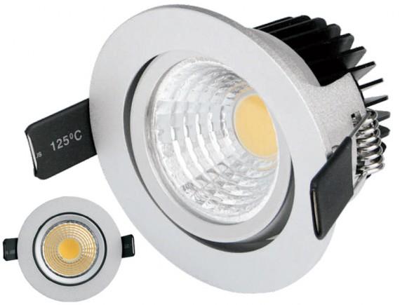 Mamba Tilt Silver, le spot LED orientable en finition argenté